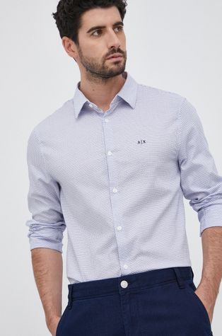 Armani Exchange - Βαμβακερό πουκάμισο