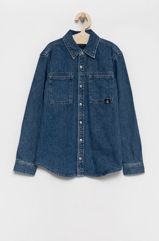 Calvin Klein Jeans - Παιδικό τζιν πουκάμισο
