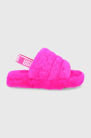 UGG - Παιδικές μάλλινες παντόφλες Fluff Yeah Slide