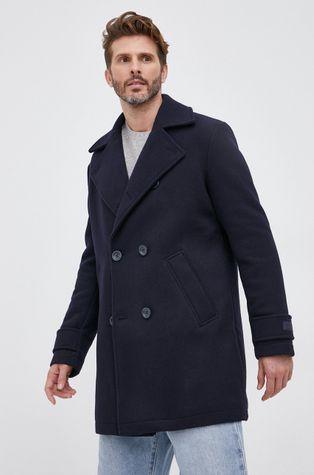 Guess - Płaszcz z domieszką wełny