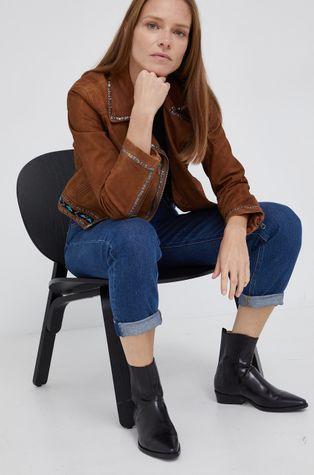 Pepe Jeans - Ramoneska zamszowa Jolene