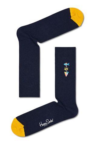 Happy Socks - Skarpetki Ribbed Embroidery Fish