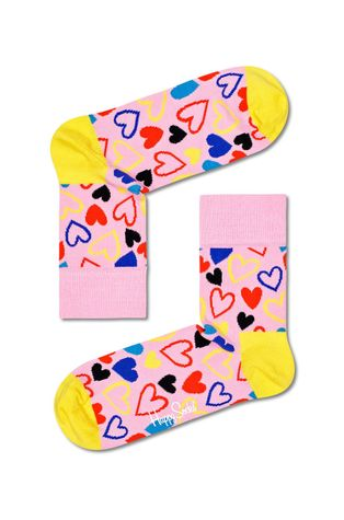 Happy Socks - Skarpetki I Heart U Half Crew Sock
