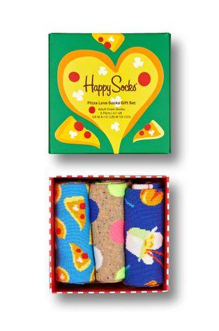 Happy Socks - Skarpetki Pizza Love (3-Pack)