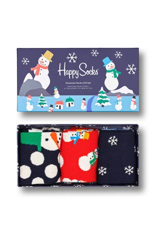 Happy Socks - Κάλτσες Snowman Socks Gift Set (3-pack)