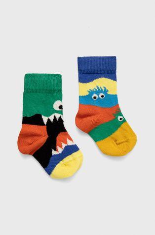 Happy Socks - Детски чорапи Monsters (2 чифта)