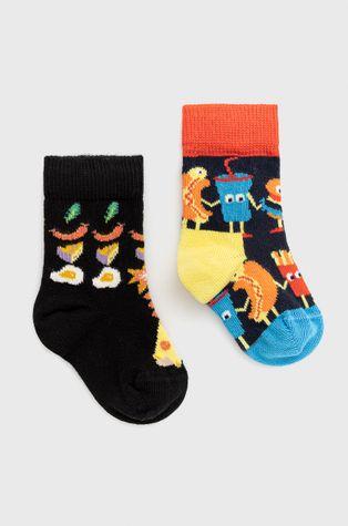 Happy Socks - Детски чорапи Food Friends (2 чифта)