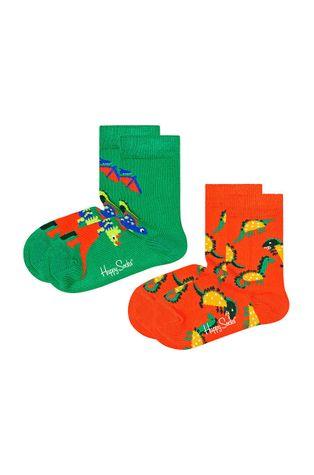 Happy Socks - Детски чорапи Kids Dinos (2 чифта)