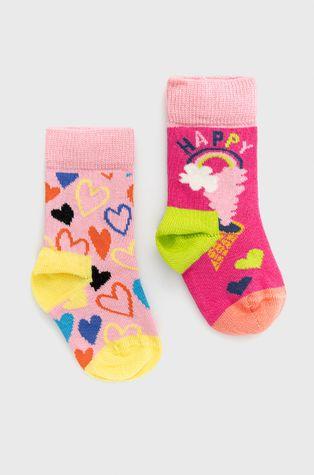 Happy Socks - Детски чорапи Happy Love (2 чифта)