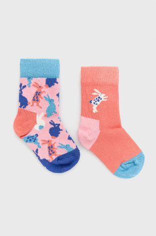 Happy Socks - Детски чорапи Bunny (2 чифта)