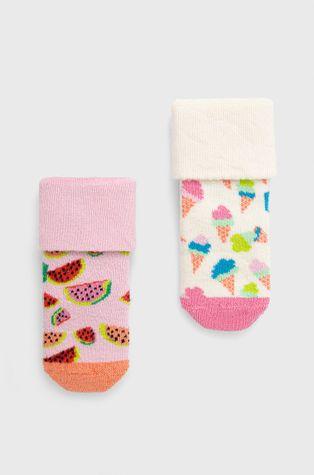 Happy Socks - Skarpetki dziecięce Kids Ice Cream Terry (2-Pack)