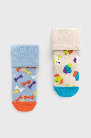 Happy Socks - Detské ponožky Dog Terry (2-pak)