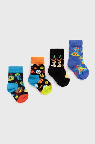 Happy Socks - Детски чорапи Space Socks Gift Set (4 чифта)