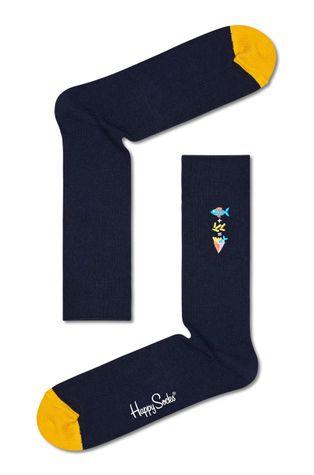 Happy Socks - Skarpetki Ribbed Embroidery Fish n Chips