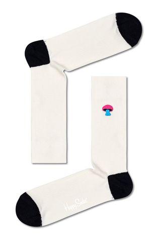 Happy Socks - Skarpetki Ribbed Embroidery Mushroom