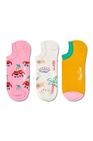 Happy Socks - Skarpetki Cherry Mates No Show (3-Pack)