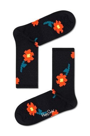 Happy Socks - Skarpetki Pixle Flower 3/4 Crew