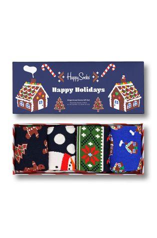 Happy Socks - Κάλτσες Gingerbread Cookies (4-pack)