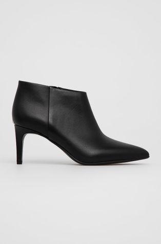 Calvin Klein - Kožené členkové topánky