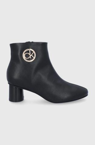 Calvin Klein - Kožené kotníkové boty