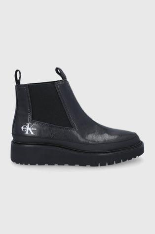 Calvin Klein Jeans - Kožené kotníkové boty