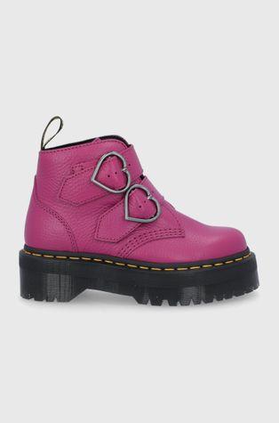 Dr. Martens - Kožené kotníkové boty Devon Heart
