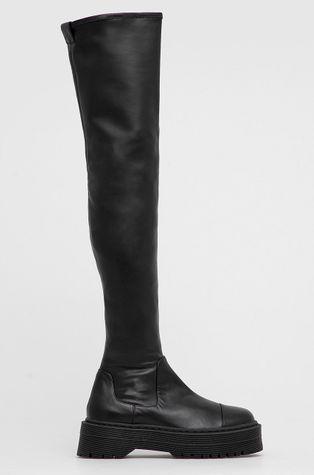 Armani Exchange - Δερμάτινες μπότες