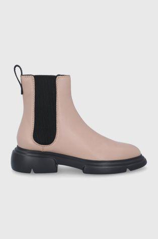 Emporio Armani - Δερμάτινες μπότες Τσέλσι