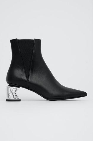 Karl Lagerfeld - Sztyblety skórzane