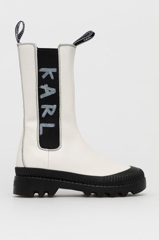 Karl Lagerfeld - Δερμάτινες μπότες Τσέλσι