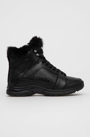 Calvin Klein - Δερμάτινες μπότες χιονιού