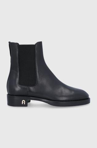 Furla - Kožené kotníkové boty Heritage