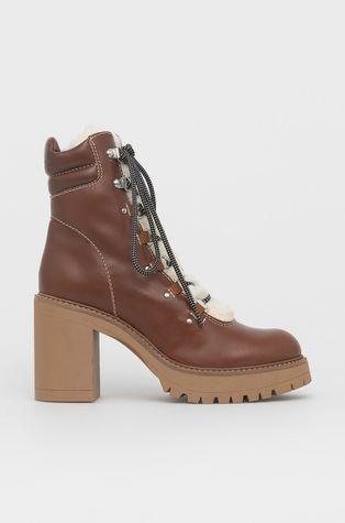 Pinko - Kožené kotníkové boty