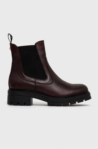 Sisley - Kožené kotníkové boty