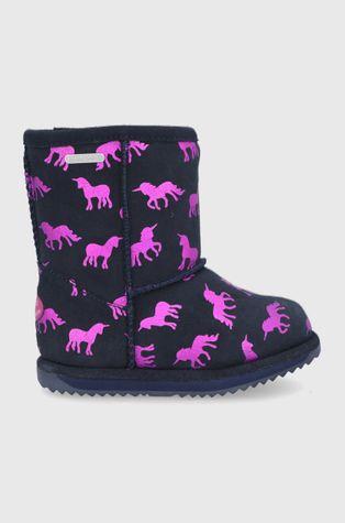 Emu Australia - Μπότες χιονιού σουέτ για παιδιά Rainbow Unicorn Brumby