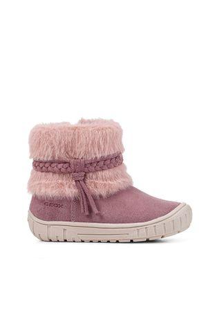 Geox - Μπότες χιονιού σουέτ για παιδιά