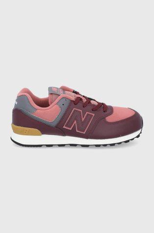 New Balance - Детски кожени обувки GC574PX1