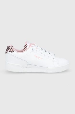 Pepe Jeans - Παιδικά δερμάτινα παπούτσια Lambert Zebra