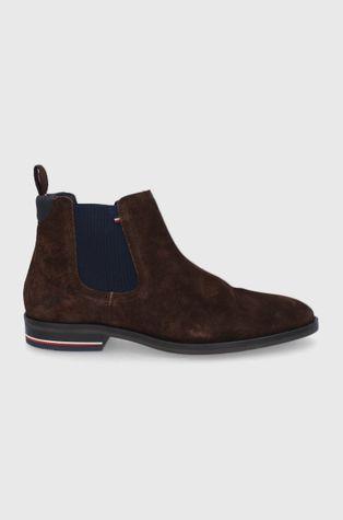 Tommy Hilfiger - Semišové kotníkové boty