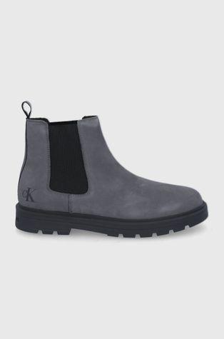 Calvin Klein Jeans - Semišové kotníkové boty