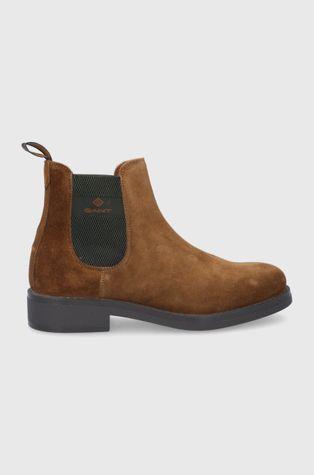 Gant - Kožené kotníkové boty Brookly
