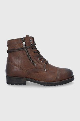 Pepe Jeans - Kožené boty Melting High