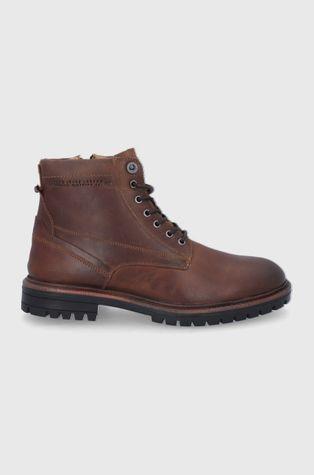 Pepe Jeans - Kožené boty Ned Boot Lth