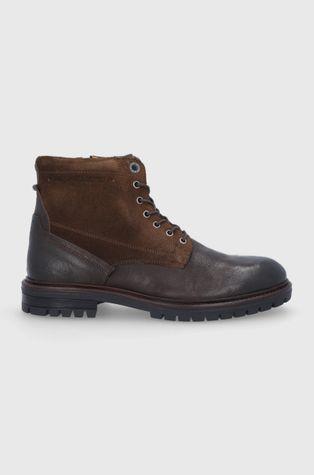 Pepe Jeans - Шкіряні черевики Ned Boot Comb