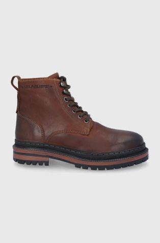 Pepe Jeans - Kožené boty Martin Boot