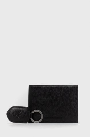 Emporio Armani - Δερμάτινο πορτοφόλι + μπρελόκ