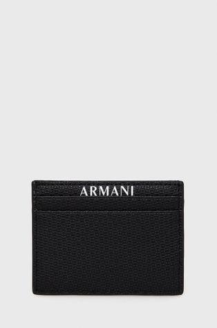 Armani Exchange - Etui na karty skórzane