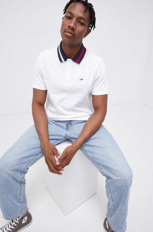 Tommy Jeans - Памучна тениска с яка