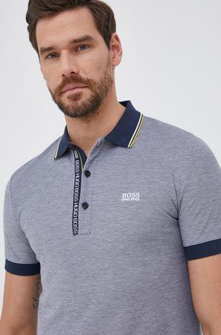 Boss - Памучна тениска с яка