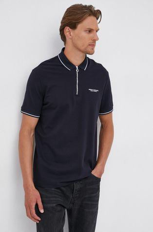 Armani Exchange - Памучна тениска с яка